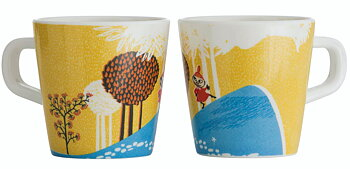 Moomin children's mug, Forest & Lake (Yellow)