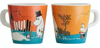 Moomin children's mug, Forest & Lake (Orange)
