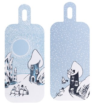 Moomin Cutting/Serving Board - Snowy Valley