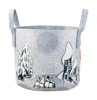 Moomin Storage Basket - Snowy Valley