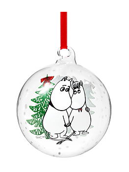Moomin Decoration Ball - Moomintroll & Snorkmaiden