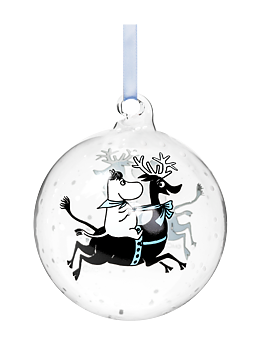 Moomin Decoration Ball - Reindeer ride