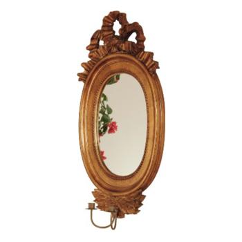 Stor Spegellampett Guld H 82 cm