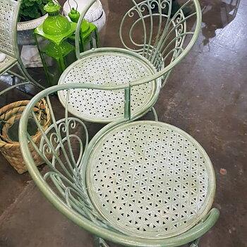 Grön Bänk / Kärleksbänk Fransk stil