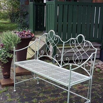 Grön Bänk / Trädgårdsbänk Fransk stil