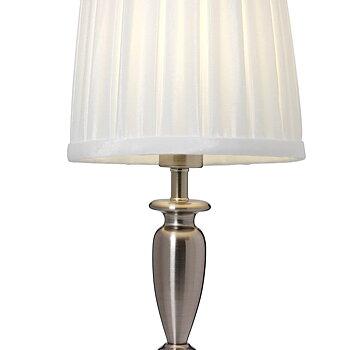Bordslampa Klassisk Antiksilver Borstad krom