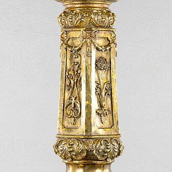 Piedestal Pelare Guld Baroque 75 cm
