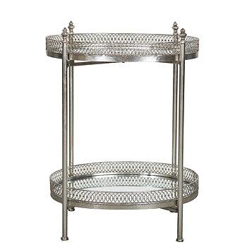 Drinkbord/ Bord med Spegel Silver