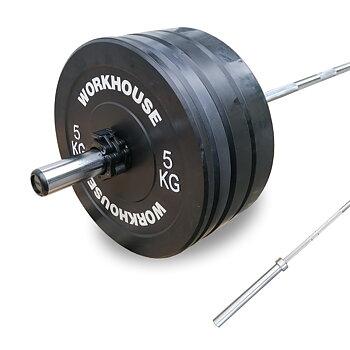 Bumper Set 120 kg med Gym Skivstång