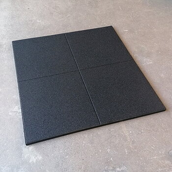 Gymgolv 30 mm, 100x100 cm, Svart (Pris/st) *Tillfälligt parti*
