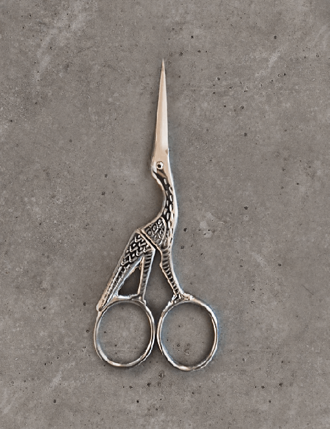 Embroidery scissors - stork - chrome