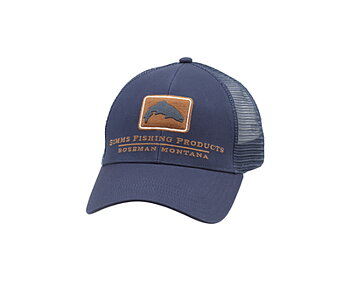 Simms Trout Icon Trucker Ink Blue
