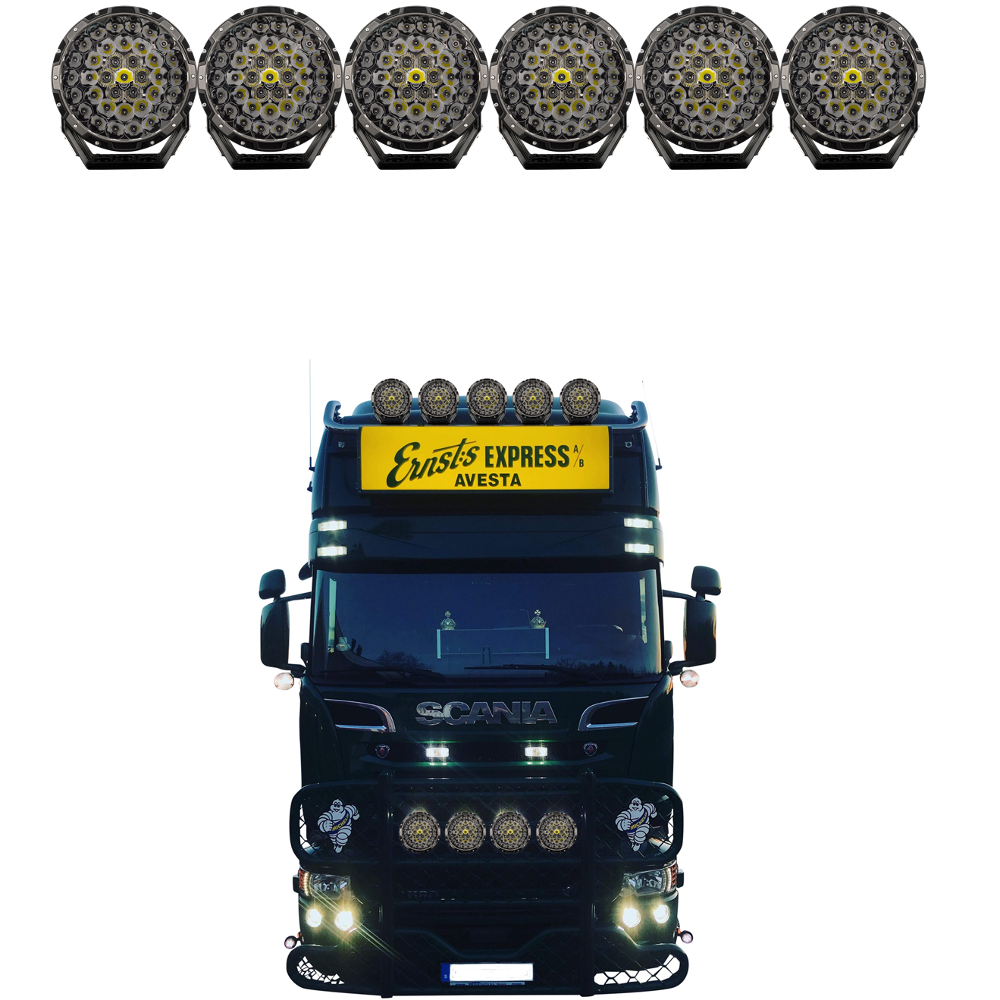 STEDI Type X PRO LED Driving Lights 6 truck pack