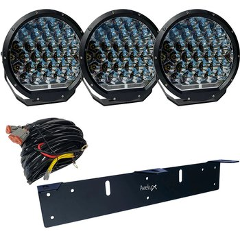 Avelux Summit Pro 225 LED Extraljus 3-pack
