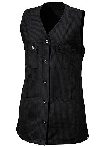 Hejco Ladies Long Practical Waistcoat BLACK C40 - CLEARANCE