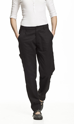 Segers Ladies Organic Cotton Trousers Black  C44 - CLEARANCE