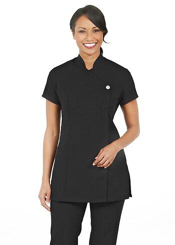 Simon Jersey Select Ladies One Button Tunic Black Size 20