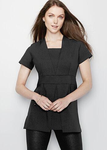 Simon Jersey V-Insert Tunic Black Size 14