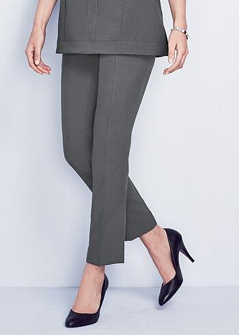 Simon Jersey Ladies Slim Fit Trouser Graphite Size 16