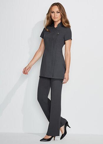 Simon Jersey Ladies Essential Bootleg Trouser Graphite Size 16