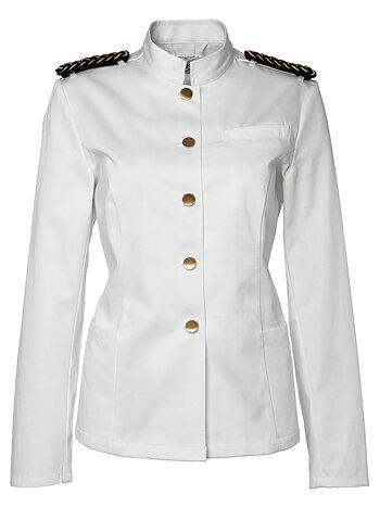 Segers Waiters Jacket White Satin Women C42 - CLEA