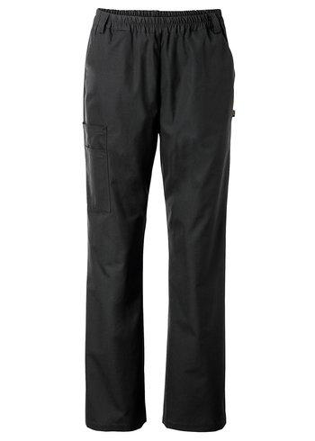 Nytello Ladies Elasticated Waist Trousers - BLACK - SMALL - sale