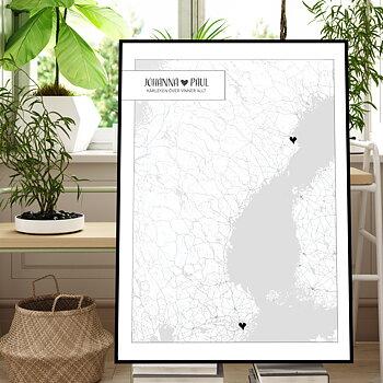 Stadskarta - Poster