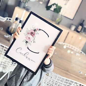 Flower Letter - Poster