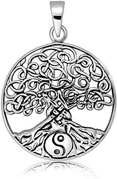 Keltisk Träd med Yin Yang Hänge