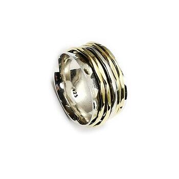 Handgjord Spin Ring i Silver/Brons - Bankat