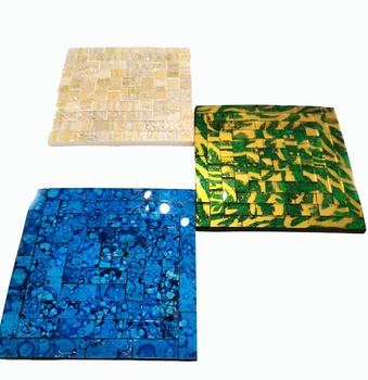 Mosaik Underlägg / Mandala - Fyrkantig
