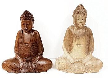 Buddha handsnidad i trä,  15cm