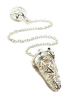 Metall Pendel med Pentagram