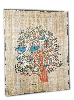 Papyrus Målning - Livetträd