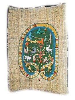 Papyrus Målning - Okelbo Kyrka Runsten