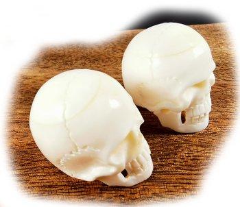 Handsnidade skalle i buffelben