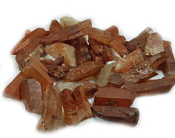 """Tangerinkvarts/ Röd """"drakkvartkristall"""" Spetsar- Naturlig"""