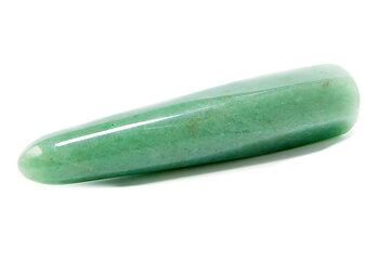 Grön Aventurin Massage Stav - Spetsig