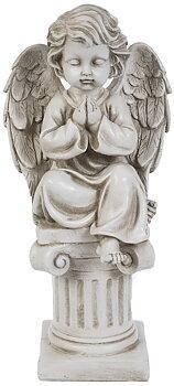 Ängel bedjande på pedestal