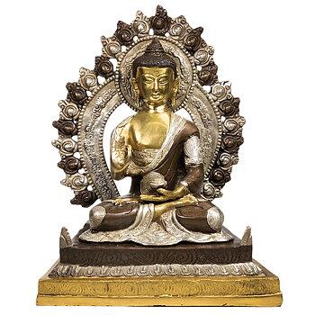 Buddha Shakyamuni med Auran ,  2 färg