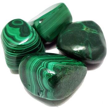 Malakit  - Trumlad stenar - handpolerad  - AA kvalitet