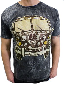 NO TIME T-shirt -  Peace Skull Bus