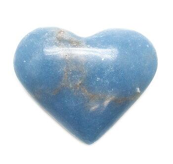 Angelit ( Blå Anhydrit) Hjärta från Madagaskar