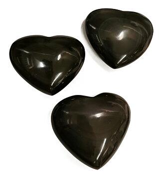 Regnbågsobsidian  Hjärta - Stor