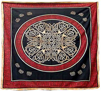 Kelisk Mandala/knut Väggbonad  - 250cm