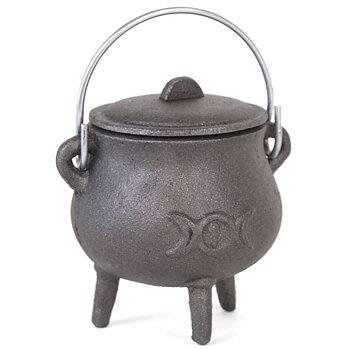 Cauldron med Triple Moon -  7.5cm