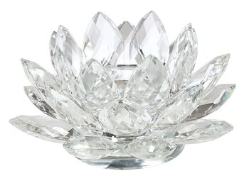 Lotuslyktor - Fascetterad Kristall Glas