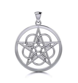 Pentagram Keltiskt med Knut
