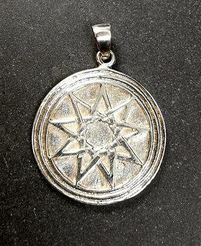 Alvstjärna Hänge i Silver - -Septagram Solid