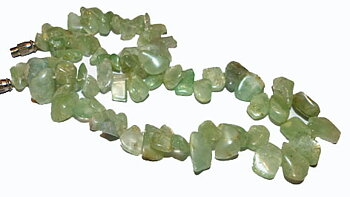 Äkta Grön Månsten (Green Moonstone) Chip Sträng
